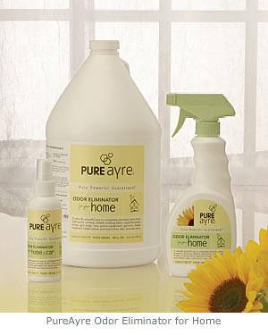Odor eliminator PureAyre eliminates cat, pet, smoke, skunk
